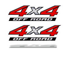 4x4 OFF ROAD RED DECAL STICKER F150 TACOMA RAM Chevy Ford Toyota Truck Mk001x4F