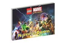 LEGO MARVEL SUPERHEROES b PERSONALISED WOODEN DOOR PLAQUE