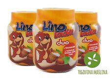 3x Lino Lada Duo Süsse Brotaufstrich Linolada Schokolade Schokocreme 350g