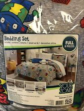 Your Zone Blast off Glow in the Dark Bed in a Bag Comforter Bedding Set Full