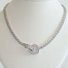 Halskette Silber 925 Zirkonias Herz Collier Echt Sterlingsilber Damen