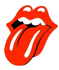 "Rolling Stones Tongue Vinyl Bumper Sticker Decal 3"" Rock n Roll Hippie Biker"