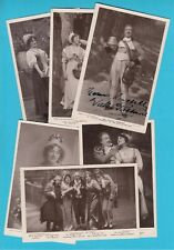 More details for the belle of britanny six real photo postcard including 3 signed autograph cards