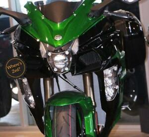 Kawasaki Ninja H2 SX SE (2018+) Motorcycle Headlight Protector / Light Guard Kit
