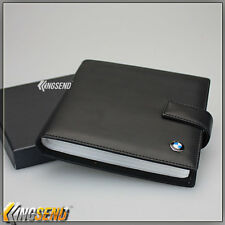 deluxe BMW Leather CD Case Car DVD Holder Disc Album Disk Storage Carry Box