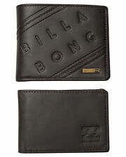 BRAND NEW IN BOX BILLABONG MENS BROOKLYN LEATHER WALLET TWO IN ONE TRIFOLD JAVA