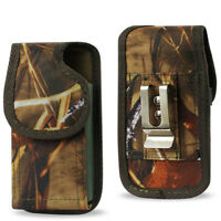 Tree Camo Rugged Nylon Holster Pouch Case Fits Phone with Otterbox Defender ON