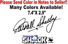 Carroll Shelby signature vinyl decal 7.4''x2.9'' Shelby racing ford mustang car