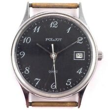 Soviet POLJOT Quartz watch, Black Dial, Cal. 2460, USSR, *US SELLER* #1205