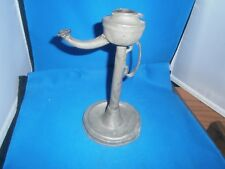 Antique Pewter American Whale Oil Lamp c. 1850