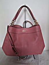 COACH - Pebbled Leather Small Lexy Shoulder Bag - Vintage Pink - F28992
