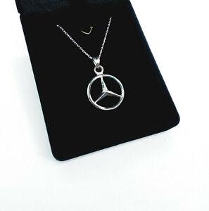 Mercedes Benz Necklace - Car jewelry - 925 Silver Handmade_Mercedes pendant