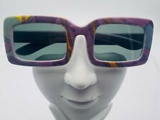 Vintage Multi-Color Rectangle Sunglasses Frames Italy