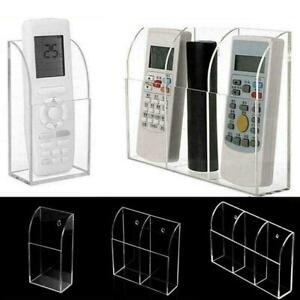 TV Remote Control Holder Wall Mount Acrylic Organiser Box Size N3X4 Holders Y