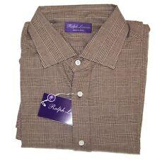 Ralph Lauren Purple Label Italy Glen Plaid Flannel Casual Button Dress Shirt NWT