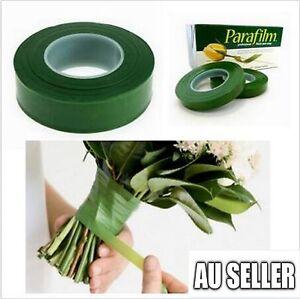 2x Wedding Florist Craft Stem Wrap Floral Paper Tape Waterproof 27m 2 Colors