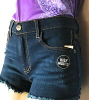 Aeropostale Womens Stretch Denim Shorty Shorts