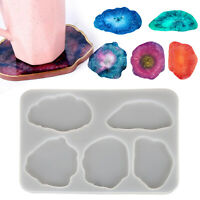 Silicone Coaster Mold Resin Casting Mould Agate Jewelry Clay Making Art DIY Tool