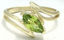 GENUINE 1.10 carats PERIDOT RING 14k YELLOW GOLD* Free Shipping & appraisal*