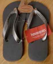 e6f22e8f6 NEW Mens Brazil Havaiana   Steel Grey Gray   Flip Flop Sandals Sz M 9 -