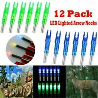 12PCS Automatically LED Lighted Arrow Nocks Tail for Crossbow Arrows