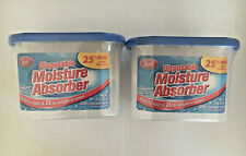 Lot of 2 Dehumidifier Disposable Moisture Absorber Damp Trap Mold Closet 7.9 Oz