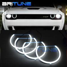 LED Halos Angel Eyes Lights For Dodge Challenger 08-14 Headlight Customs White