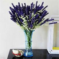 Fake Silk Flowers 12 Heads Party Bouquet Wedding Artificial Lavender Home Decor