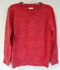 NWT Gap Kids Red Heather Crew Pullover Sweater Boy's Small / 6-7