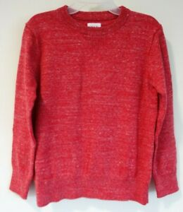 Brand New Gap Kids Red Heather Crew Pullover Sweater Boy's Large / 10