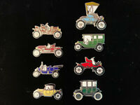 1900's Mafco Vintage Classic Car Collection (Lot of 8) hat pins, lapel
