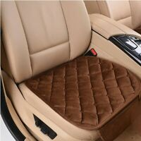 Car Front Seat Cushion Cover Plush Breathable Chair Protector Seat Pad Brown