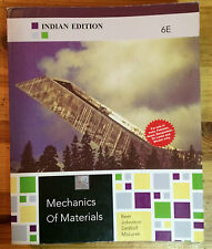 Mechanics of Materials, 6 Edition (INDIAN EDITION, paperback)
