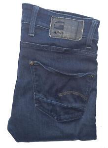 "Men's G-STAR RAW Premium REVEND *SUPER SLIM/SKINNY** Dark Blue Jeans W32"" L32"""