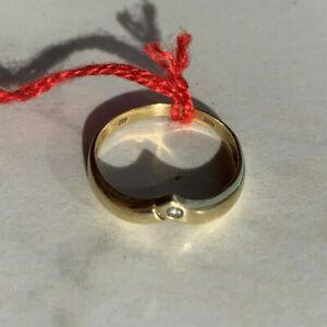 Gelbgold 585 Solitär Brilliant Ring 0,005 ct
