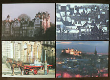 4 Large Unused Colin Baxter Postcards, Edinburgh