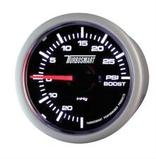 "Turbosmart Boost Gauge 0-30psi 52mm 2 1/16"" Black Face Silver Bezel TS-0101-2023"