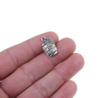 10pcs Wine Barrel Charm Pendant 15*14mm Tibetan Silver Beads DIY Jewelry Finding