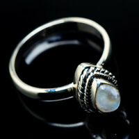 Rainbow Moonstone 925 Sterling Silver Ring Size 8.25 Ana Co Jewelry R24087F