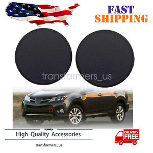 Pair Front Bumper Tow Hook Cover Cap For Toyota RAV4 2013 2014 2015 Left Right