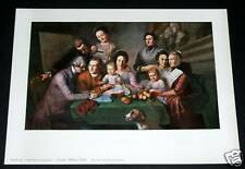 """OLD ART PRINT, """"THE PEALE FAMILY"""", CHARLES WILSON PEALE"""