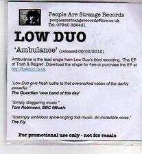 (CI267) Low Duo, Ambulance - 2012 DJ CD
