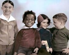 "ALFALFA BUCKWHEAT DARLA SPANKY THE LITTLE RASCALS 8x10"" HAND COLOR TINTED PHOTO"