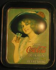 "COCA-COLA ""DRINL COCA-COLA DELICIOUS & REFRESHING"" SERVING  TRAY  1970'S REPRO"