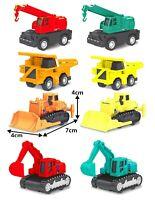 8pc Construction Gift Set JCB Excavator Digger Vehicle Children pull back toy 2+