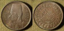 Egypt : AH 1358/1939 5 Piastr  BU  Beautiful Patina, Bag Marks  # 365  IR4197