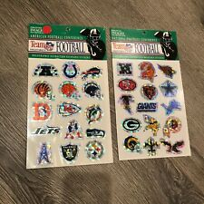 NEW Vintage 1980's NFL Team Logo AFC NFC Holographic Old School Binder Stickers