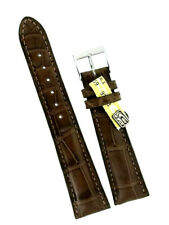 Louisiana Kroko Uhrband 20/16mm braun grosse Narbung Made in Germany Handmade