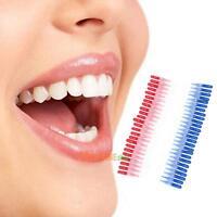 50pcs Tooth Flossing Head Hygiene Dental Plastic Interdental Brush Toothpick
