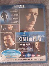 NEW STATE OF PLAY BLU RAY DISC STARRING RUSSLL CROWE BEN AFFLECK RACHEL MCADAMS